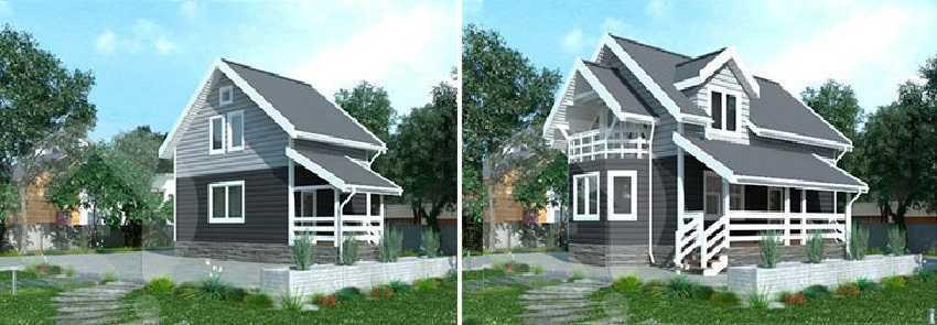 Проекты достраиваемых домов