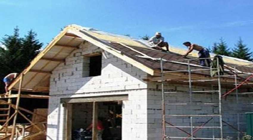 Строим стены и кладем крышу