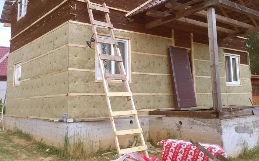 Утепление стен снаружи частного дома
