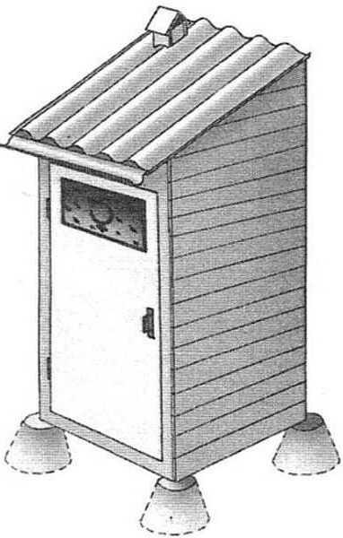 Основание под кабинку – столбики
