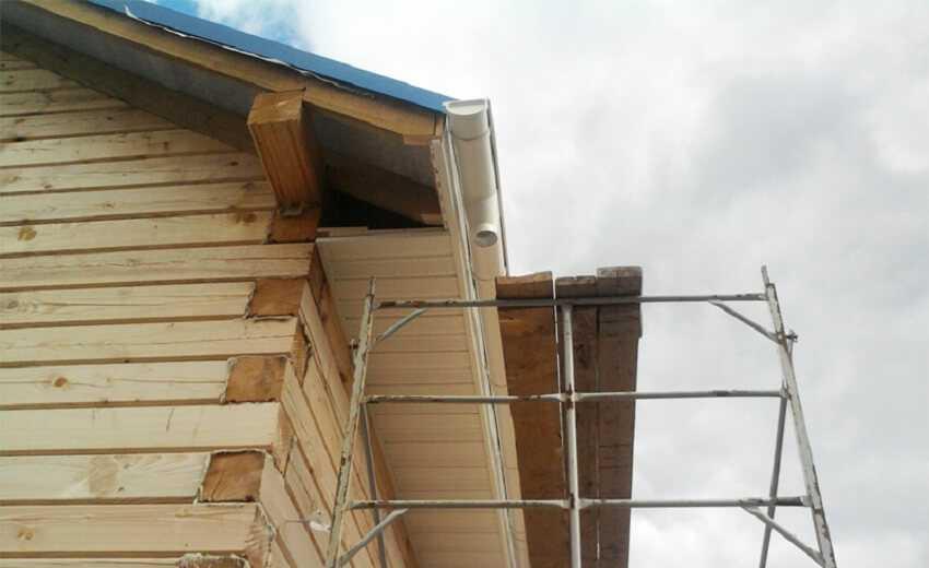 Подшивка крыши в частном доме