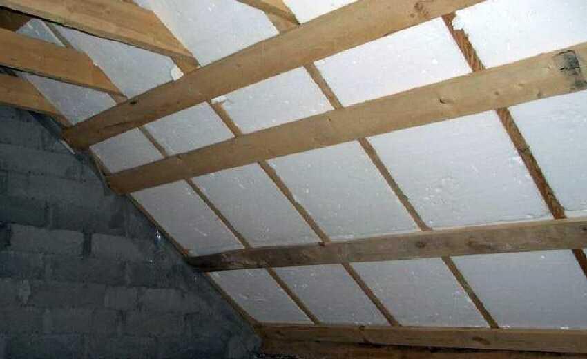 Утепления крыши частного дома пенополистиролом