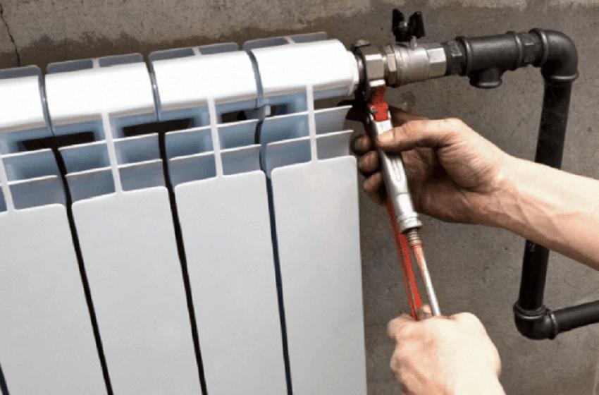 Алюминиевый радиатор отопления - демонтаж