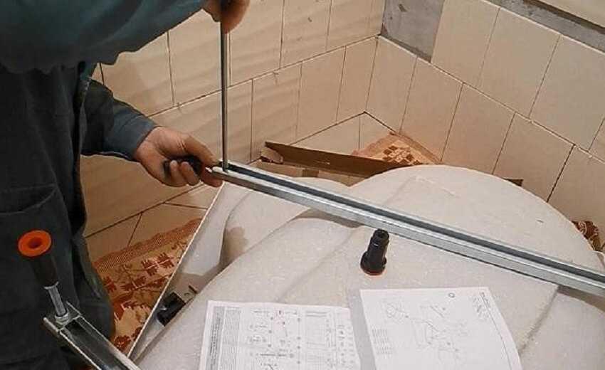 Как установить ванну своими руками