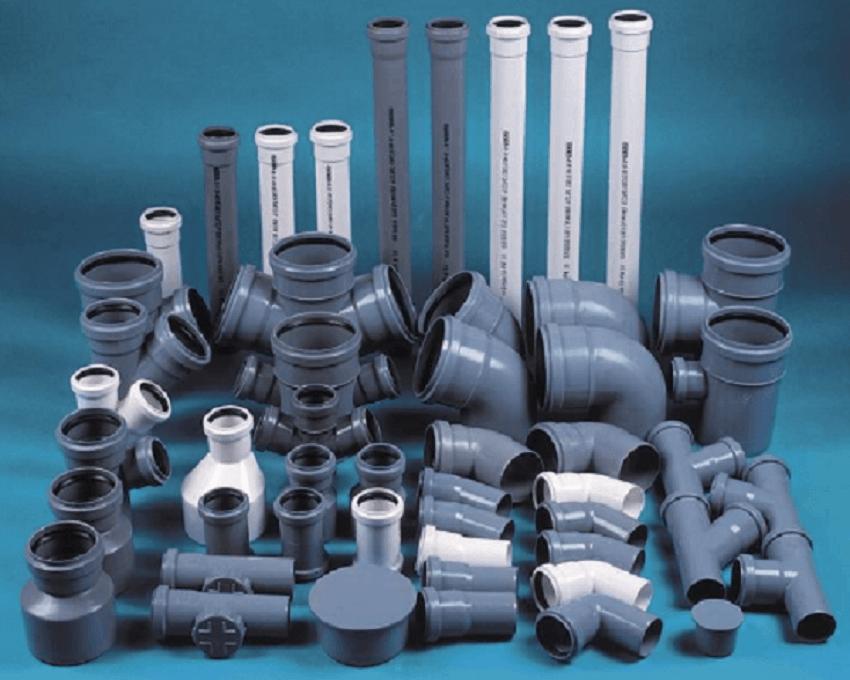 Канализационные трубы и отводы для системы