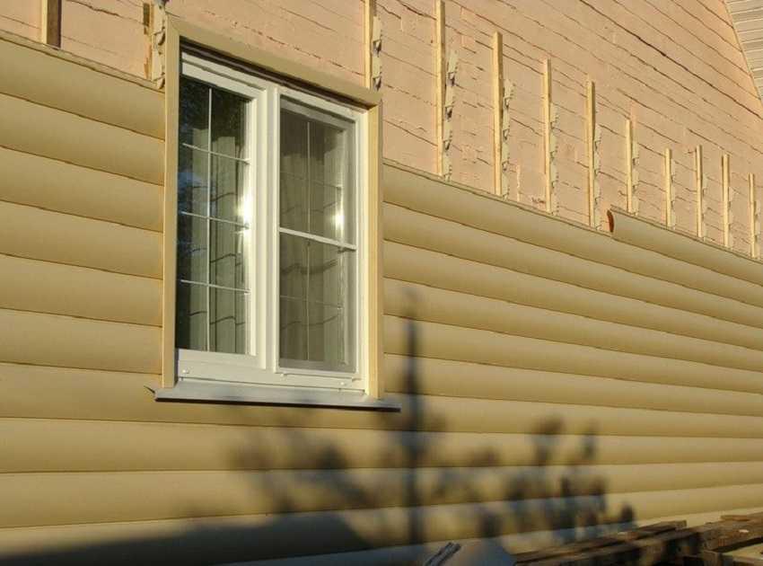 Утеплить снаружи дом из пеноблоков ‒ Облицовка дома блок-хаусом
