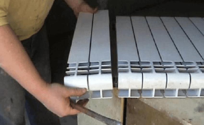 Алюминиевый радиатор - разборка и сборка