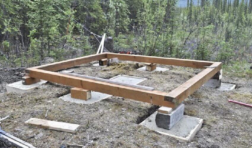 Строительство фундамента для мини бани