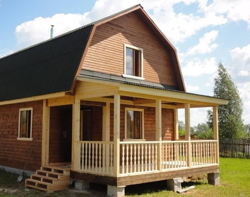 Сделать мансардный этаж - Дом с ломаной крышей