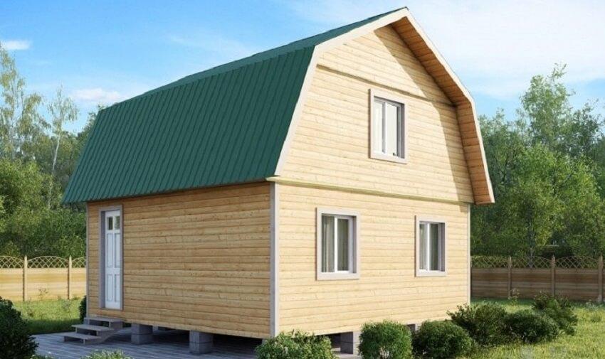 Ломанная крыша дома