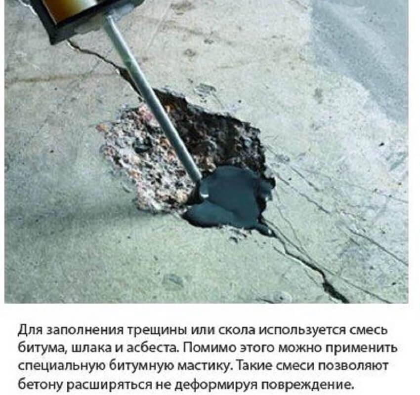 Устранение глубоких трещин в бетоне