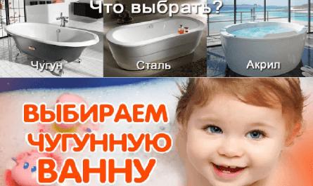 Что выбрать чугун, сталь или акрил – Чугунная ванна