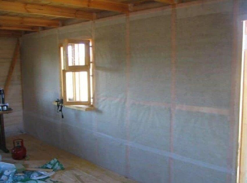 Утепление стен изнутри в деревянном доме - Пароизоляция стены
