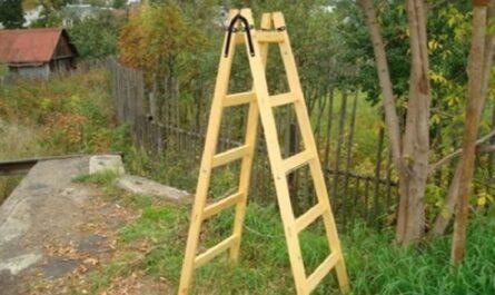Лестница-стремянка из дерева своими руками