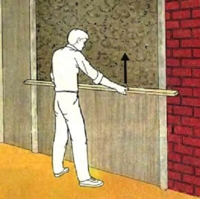 Схема выравнивания оштукатуренной стены