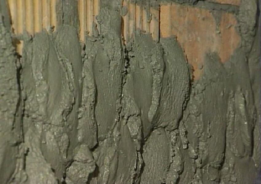 Обрызг поверхности раствором