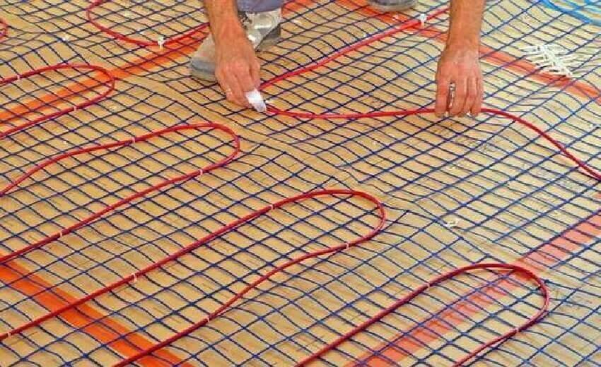 Теплый пол электрический с прокладкой кабеля