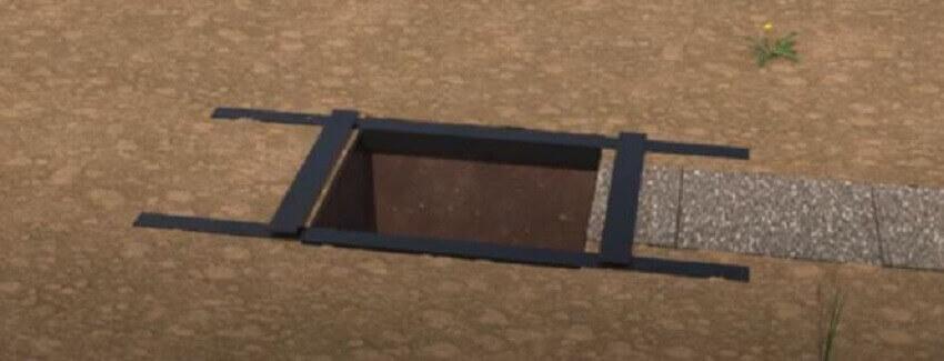 Дачный туалет своими руками ‒ Укрепленная яма
