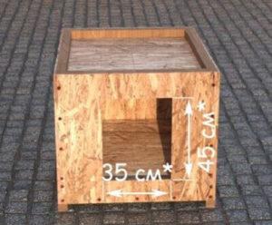 Как сделать простую будку для собаки ‒ Вход в будку