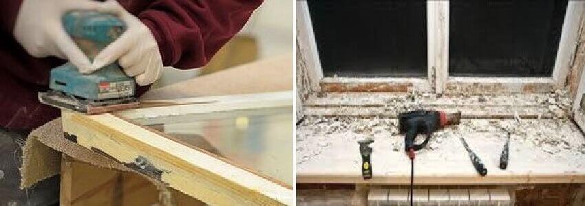 Подготовка деревянного окна к покраске