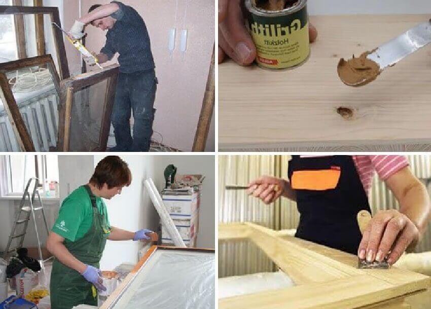 Шпатлевание и грунтование деревянной поверхности
