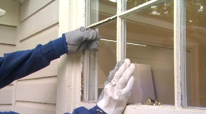 Реставрация деревянных окон ‒ Вставка стекла