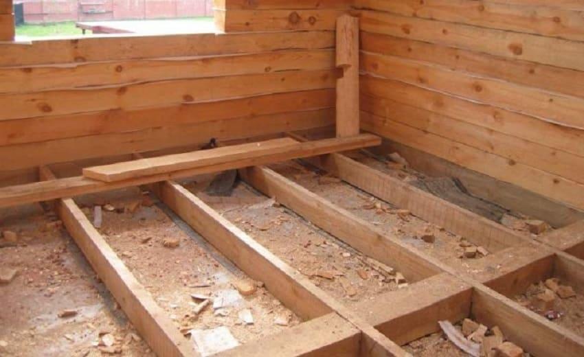 Как положить пол в деревянном доме