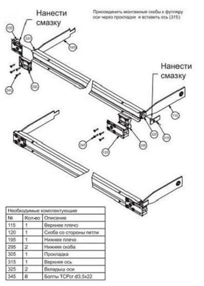 Смазка механизма