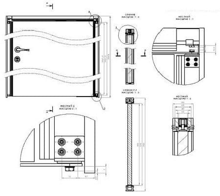 Устройство роторного дверного механизма