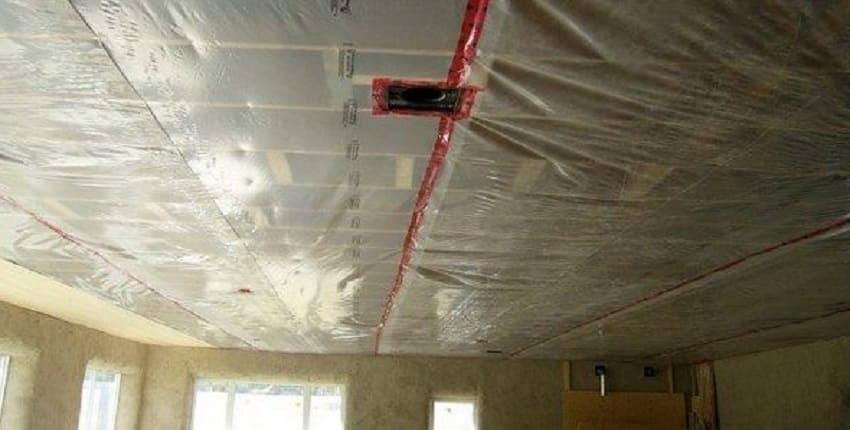 Пароизоляция потолка дома