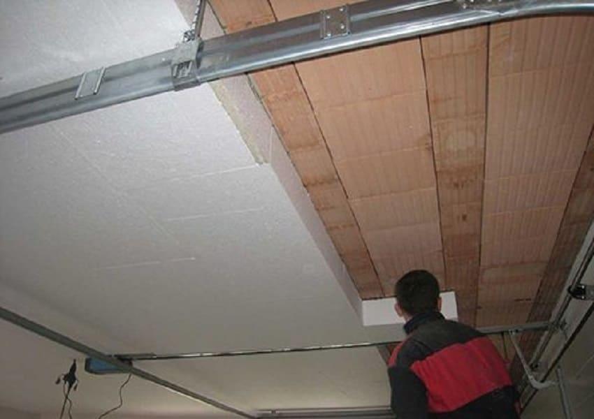 Теплоизоляция потолка пенопластом изнутри